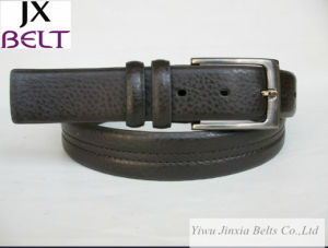 Men′s Pin Buckle Belt FL-M0036 with Two Loop pictures & photos