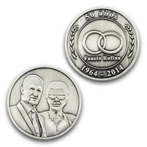 Hot Sale Anniversary Metal Souvenir Old Coin Capsules Flip France pictures & photos