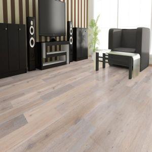 Wide Plank Brushed White Oiled Engineered Oak Wood Flooring/Hardwood Floor pictures & photos