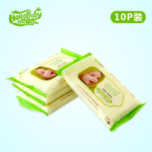 10 PCS/Bag Private Label Baby Wipes Factory, Wholesale Baby Wipes China Supplier, Competive Price Alcohol Free Baby Wet Wipe pictures & photos