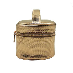 Rose Gold Cosmetic Bag with PU Handle Sedex Audit pictures & photos