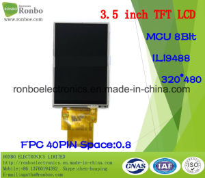 "3.5"" 320X480 MCU 8bit 40pin TFT LCD Screen for POS, Doorbell, Medical pictures & photos"