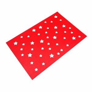 3mm & 5mm Star Shape Polyester Placemat for Tabletop and Holiday Decorations pictures & photos