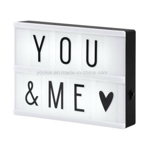 LED Cinematic Light Box DIY Letters Display Light Box pictures & photos