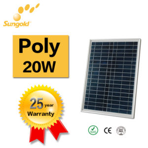 China Best PV Supplier Solar Panel Price of Poly Solar Panel 20W pictures & photos