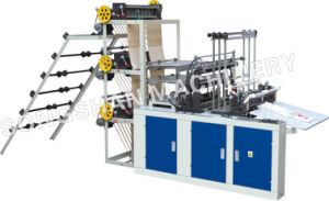 Three Layer Six Line Cold Cutting Bag Making Machine with Conveyor (SHXJ-1000L) pictures & photos