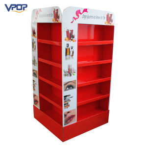 2 Sided Cardboard Shelf with Pocket/Cabinet Display for Cosmetic