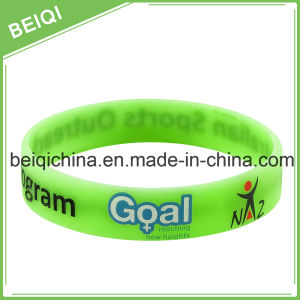 Printing Custom Logo on Silicone Wristband pictures & photos
