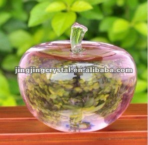 Smooth Clear Crystal Apple for Hotel Decoration with High Quality in 2016 pictures & photos