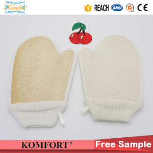 Natural Loofah Back Scrubber Exfoliating Bath Luffa Sponge Glove (KLB-108) pictures & photos