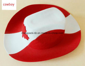 Canada Red Cowboy Hat Maple Leaf Adult Unisex (CPPH_025) pictures & photos