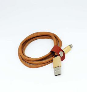 Low Price Jeans PU Leather 8 Pin USB Data Cable pictures & photos