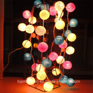 Christmas Home Decoration Multicolor Cotton Ball LED String Light pictures & photos