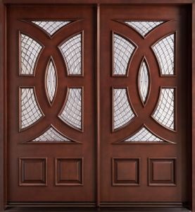6 Lites Main Entry Mystic Glass Wood Door (GSP1-040) pictures & photos