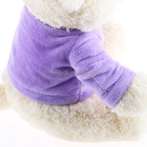 Purple Clothes Stuffed Animals Soft Teddy Bear Plush Toy pictures & photos