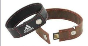 Leather Wristband USB Flash Drive with Customized Logo pictures & photos