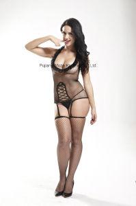 Ladies Sexy Erotic Club Wear Halter Neck Bodystocking pictures & photos