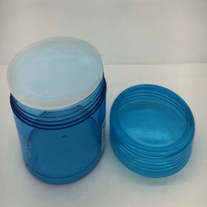 200g Round Pet Clear Plastic Jar with Lids pictures & photos