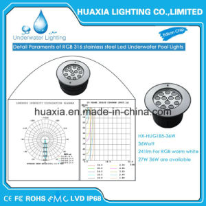 DC12V 36watt Stainless Steel IP68 LED Lighting for Underwater pictures & photos