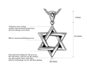 Hexagram Men Necklace Pendant Stainless Steel Fashion Jewelry pictures & photos