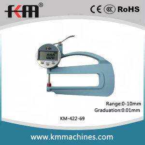 0-10mm Digital Thickness Gauge with 0.01mm Graduation and 120mm Throat Depth pictures & photos