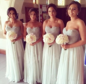 Lace Sweetheart Chiffon Floor-Length Bridesmaid Dress (Dream-100055) pictures & photos