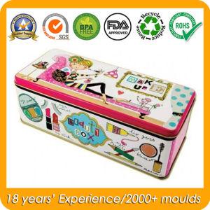 Rectangular Metal Tin Box for Women Cosmetics pictures & photos