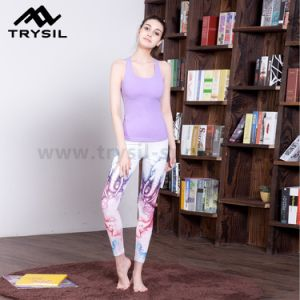 Colorful Printed Latest Fashion Yoga Legging Women Fitness Long Pants pictures & photos