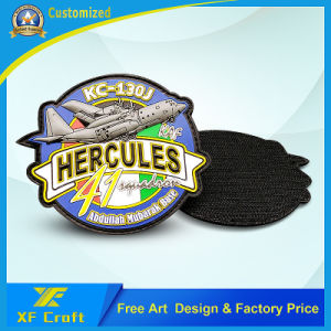 Promotion Custom Military 3D Logo Garment Label Fashion Woven Fabric Embroidery PVC Patch Emblem for Clothing (XF-PT06) pictures & photos