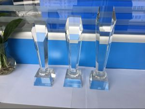 Crystal Trophy Logo Engraving or Printing pictures & photos