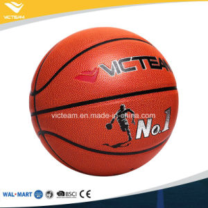 Official Size 7 5 PU Leather Match Basketball ODM pictures & photos