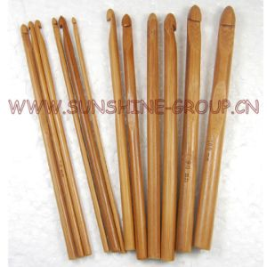 12PCS Bamboo Crochet Hook for Knit Weave Yarn pictures & photos