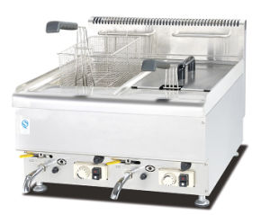 Commercial Two Tank Stainless Steel Gas Deep Fryer pictures & photos