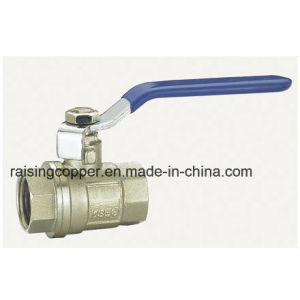 Nickle Plated Brass Ball Valve with Steel Handle pictures & photos