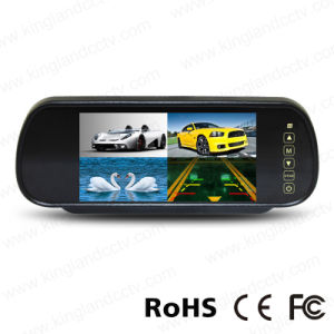 7inch Car Rear View Mirror Monitor with Quad Split Screen