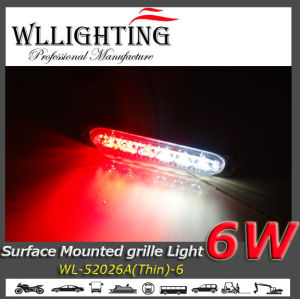 Super Thin Warning Grille LED Surface Mounts Lights Red/White pictures & photos