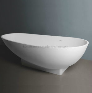 Ellipse Stone Resin Bathtub, Corian, Modified Acrylic, Polymable Stone (K1801) pictures & photos