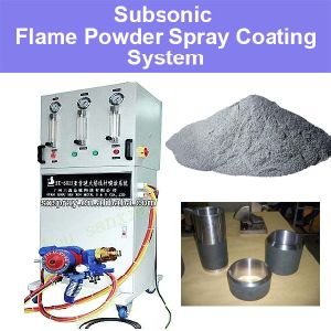 Subsonic Flame Powder Spraying System for Low Cost Metal Surface Treatment Repairing Ungsten Nickel Chromium Carbide Ceramic Coatings Machine Spraying Gun pictures & photos