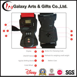 Personalised Digital Luggage Scale Weighing Luggage Belt Polyester Tsa Luggage Belt pictures & photos