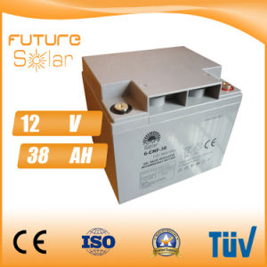 Futuresolar Lead Acid Battery 12V 38ah Solar Panel Rechargeable Battery Grey pictures & photos