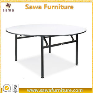Round Plywood Foldable PVC Coated Hotel Dining Table pictures & photos