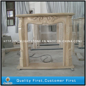 Carved Black Marble Fireplace Surround Sculpture Stone Fireplace Mantel pictures & photos