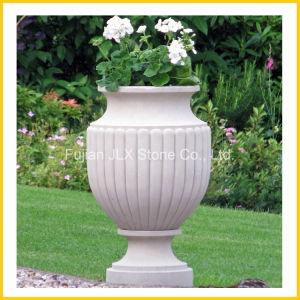 White Marble Garden Decor Flower Round Pot pictures & photos
