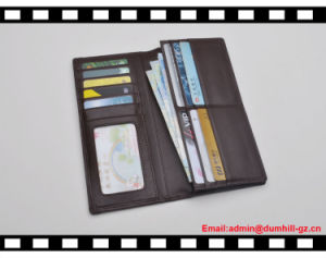 Soft Real Leather Long Purse for Men with RFID Blocking Functional pictures & photos