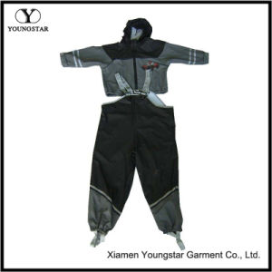 Reflective Children′s Boys Toddler Kids Raincoats PU Rain Coat pictures & photos