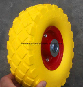 10 Inch PU Foam Wheelbarrow Tyre 3.50-4 Airless Wheel pictures & photos