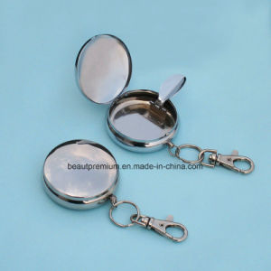 Popular Portable Smoking Accessory Round Metal Ashtray with Keychains BPS0200