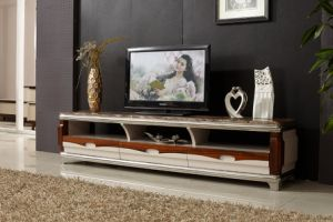 Modern Marble Surface Wooden MDF TV Stand pictures & photos