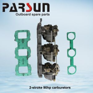 75HP, 85HP, 90HP 2 Stroke 3 Cylinders Outboard Parsun Carburetor Carb Assy pictures & photos