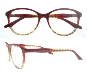 Wooden Like Acetate Optical Frame with Spring Hinge pictures & photos